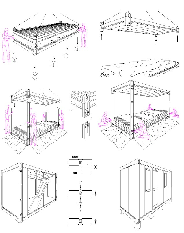 Container house steel structures structural steel for Steel container home plans