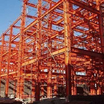 Steel Structure Building with Main Frame and Welded H-style Steel Columns and Beams